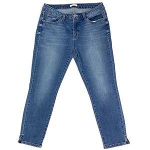 Kensie Blue High Rise Ankle Skinny Jean
